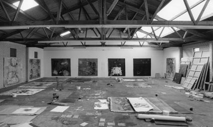 Op atelier bij Reinoud van Vught (1995)