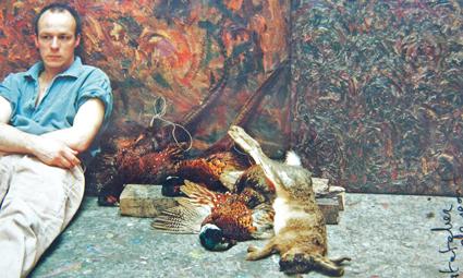 Op atelier bij Marc Mulders (1991)